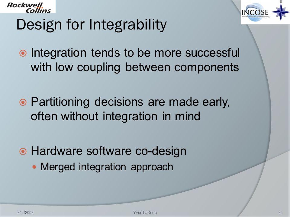Design for Integrability