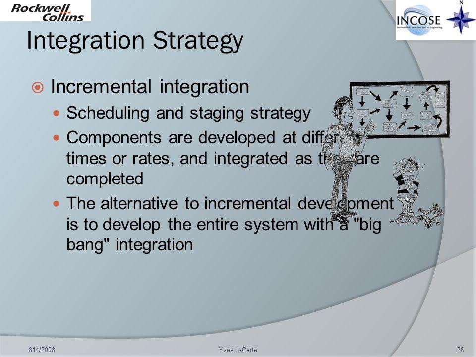 Integration Strategy Incremental integration