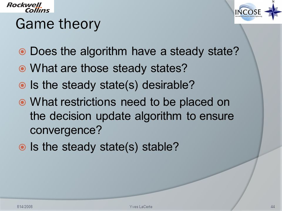 Game theory Does the algorithm have a steady state