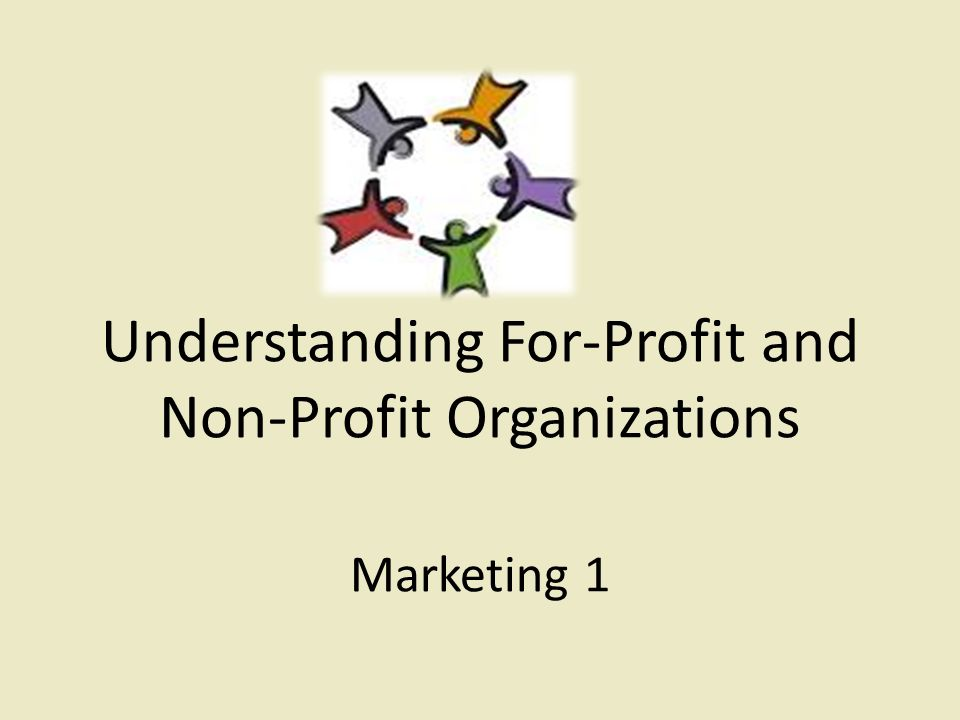 profit and non profit organizations 1