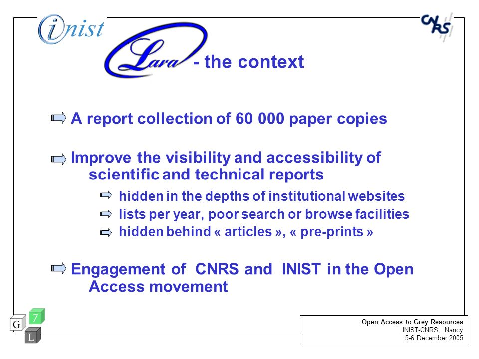 - the context A report collection of paper copies