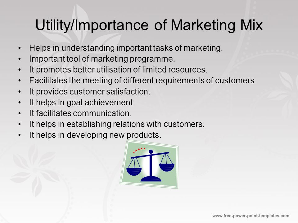 importance of marketing mix The importance of marketing communications 29 jan the importance of marketing communications eni marketing 0 comment as a subset to the marketing mix.