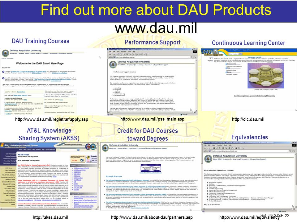 Find out more about DAU Products