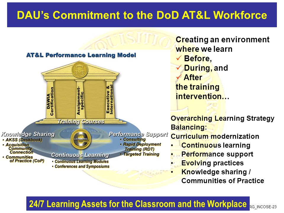 DAU's Commitment to the DoD AT&L Workforce