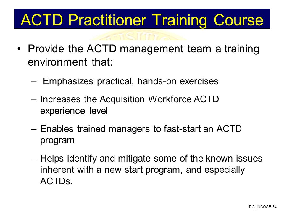 ACTD Practitioner Training Course