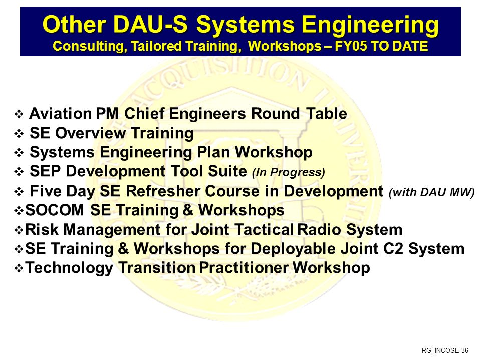 Other DAU-S Systems Engineering
