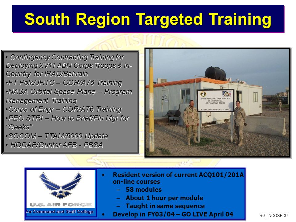 South Region Targeted Training