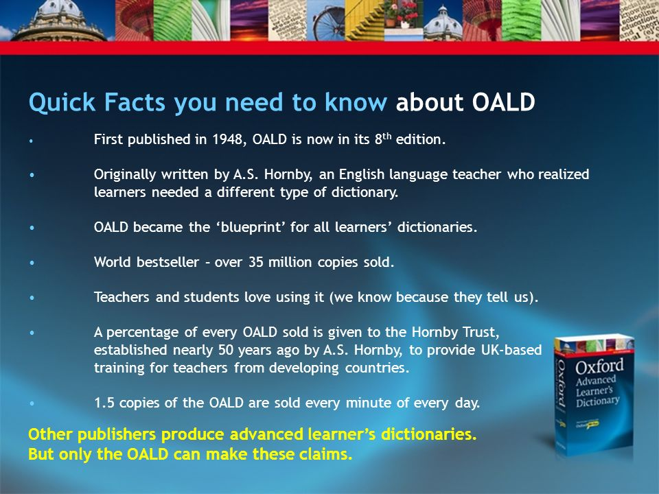 Quick Facts you need to know about OALD