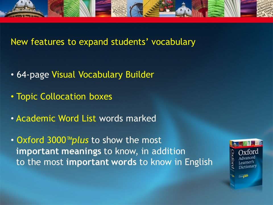 New features to expand students' vocabulary