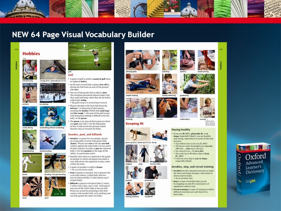 NEW 64 Page Visual Vocabulary Builder