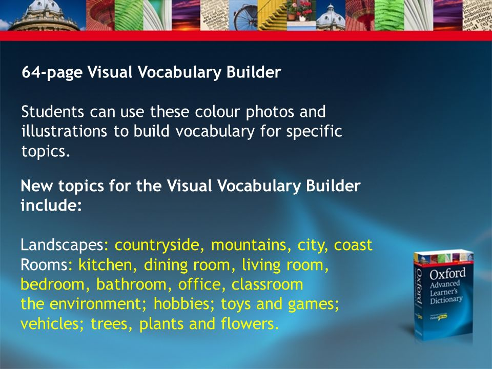64-page Visual Vocabulary Builder
