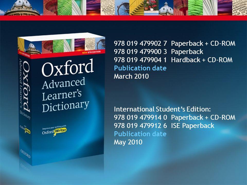 978 019 479902 7 Paperback + CD-ROM 978 019 479900 3 Paperback