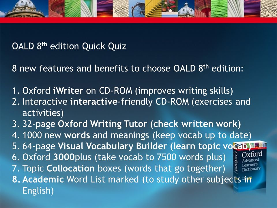 OALD 8th edition Quick Quiz