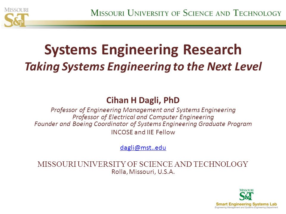 MISSOURI UNIVERSITY OF SCIENCE AND TECHNOLOGY Rolla, Missouri, U.S.A.