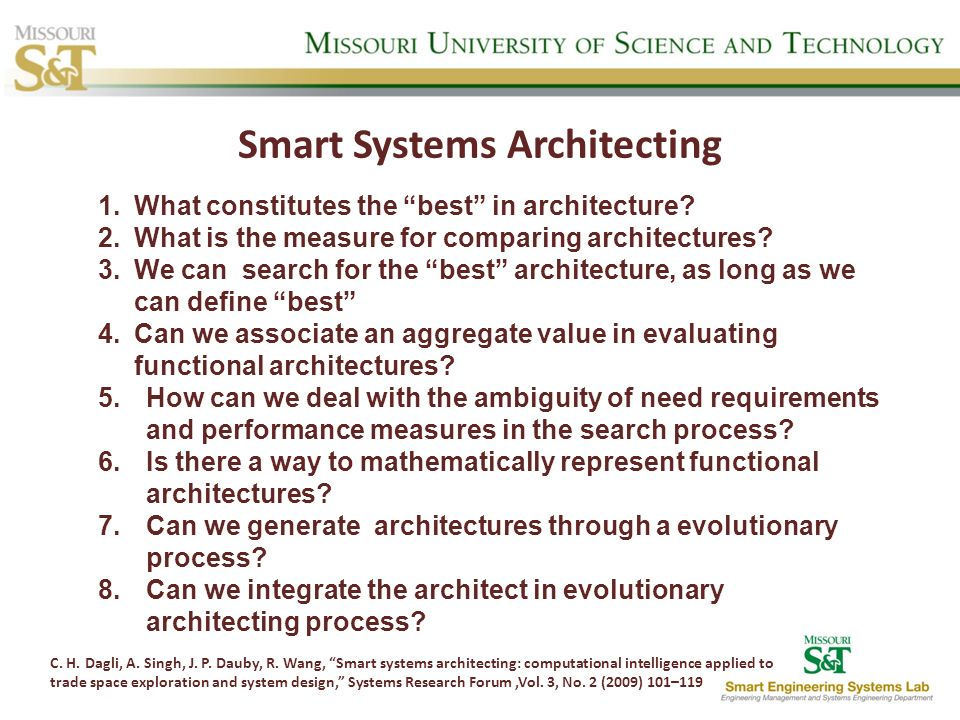 Smart Systems Architecting