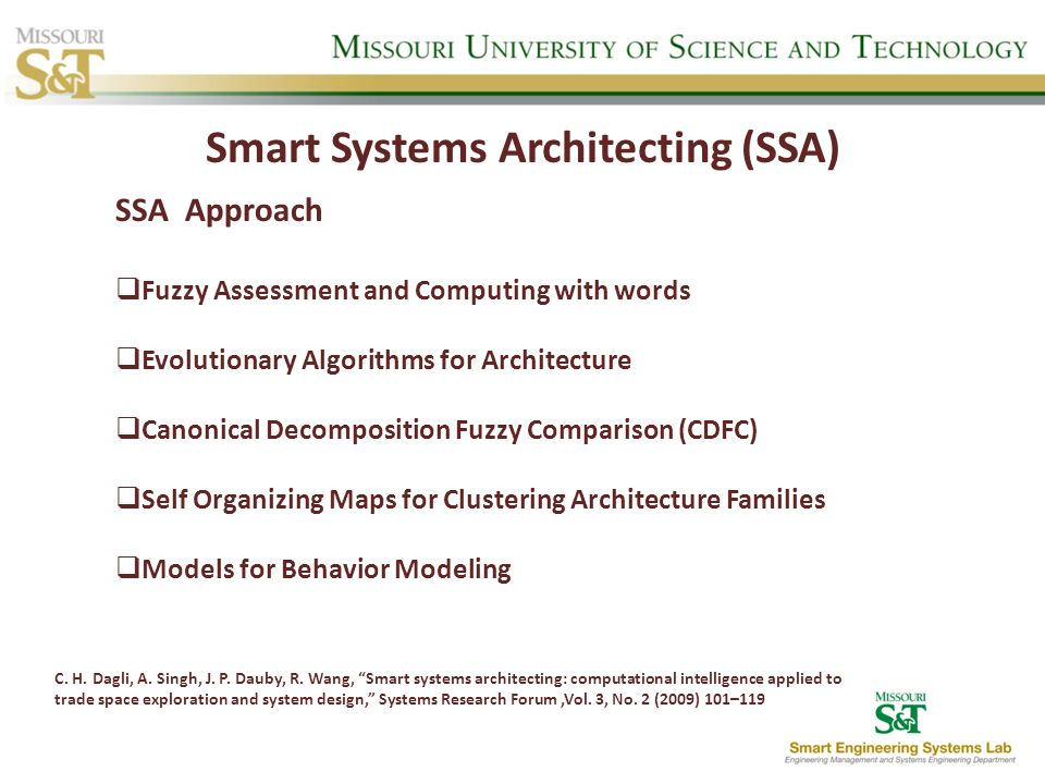 Smart Systems Architecting (SSA)