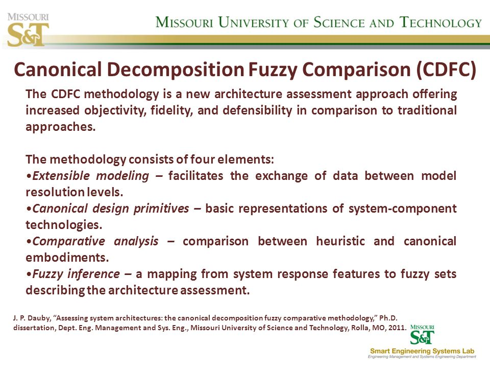 Canonical Decomposition Fuzzy Comparison (CDFC)