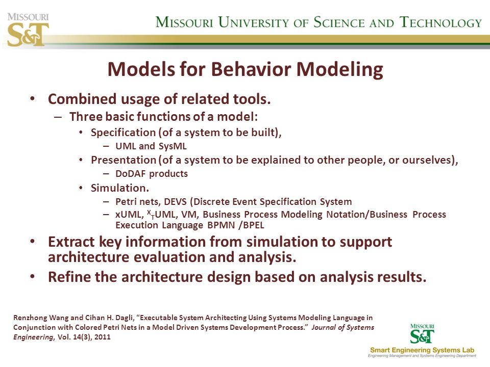 Models for Behavior Modeling