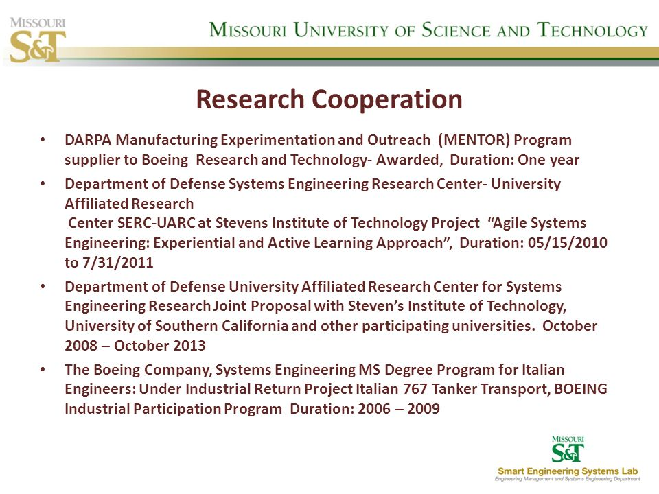 Research Cooperation