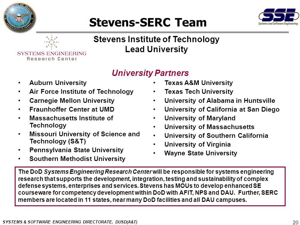 Stevens Institute of Technology Lead University