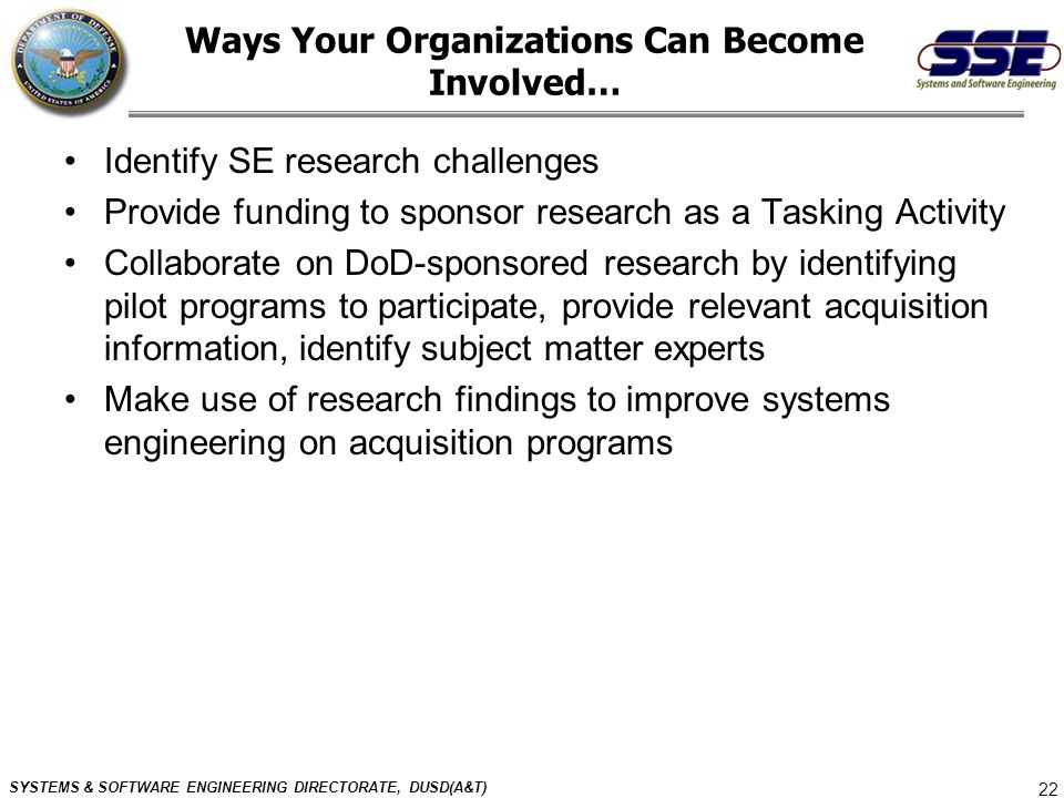 Ways Your Organizations Can Become Involved…