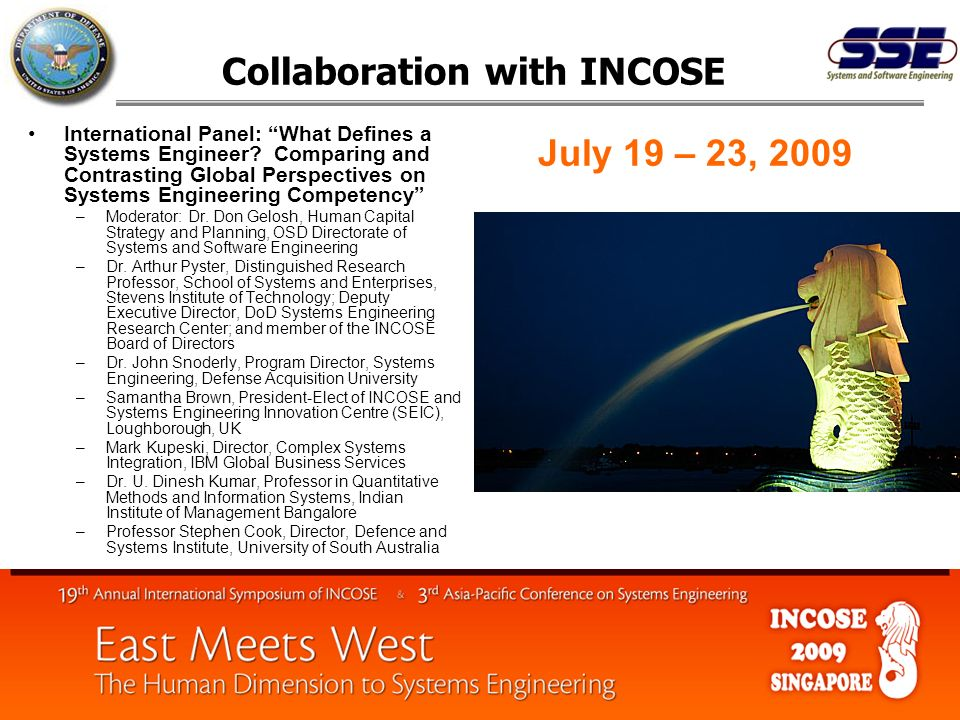 Collaboration with INCOSE