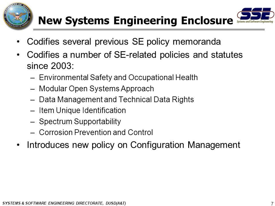 New Systems Engineering Enclosure