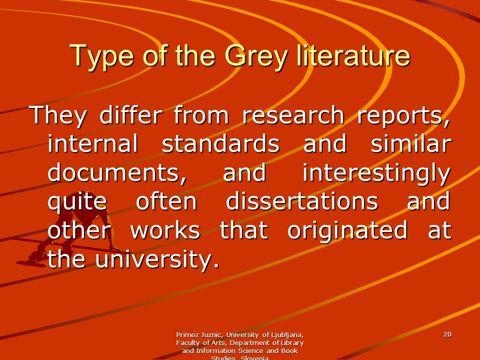 Type of the Grey literature