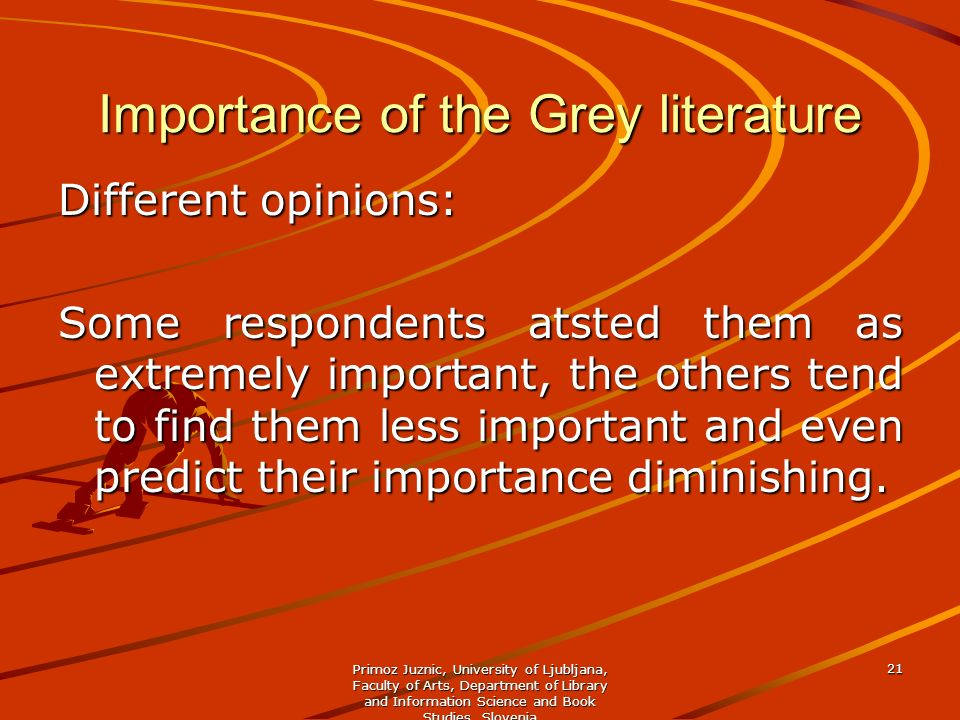 Importance of the Grey literature