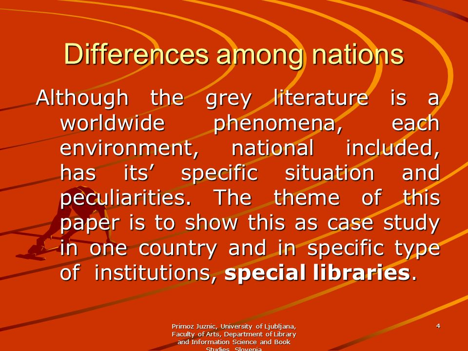Differences among nations