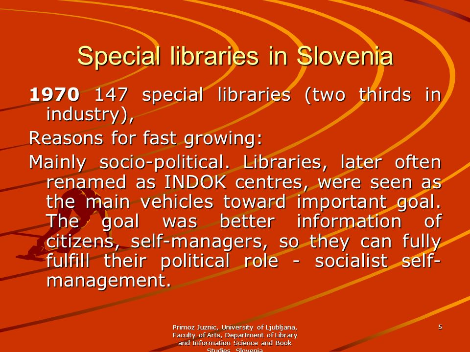 Special libraries in Slovenia
