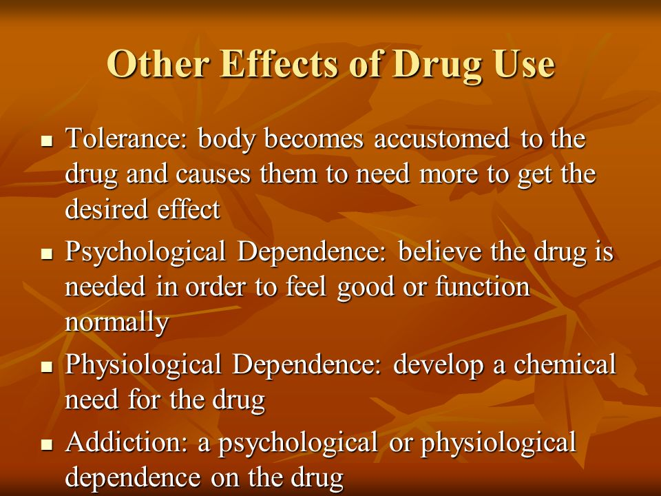 The physical social and economic consequences of drug consumption