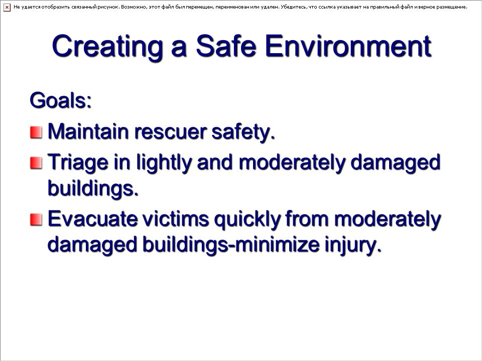 creating a safe environment Creating environments for infants a guide to setting up environments was developed by the center the caregiver provides a safe environment to prevent and.