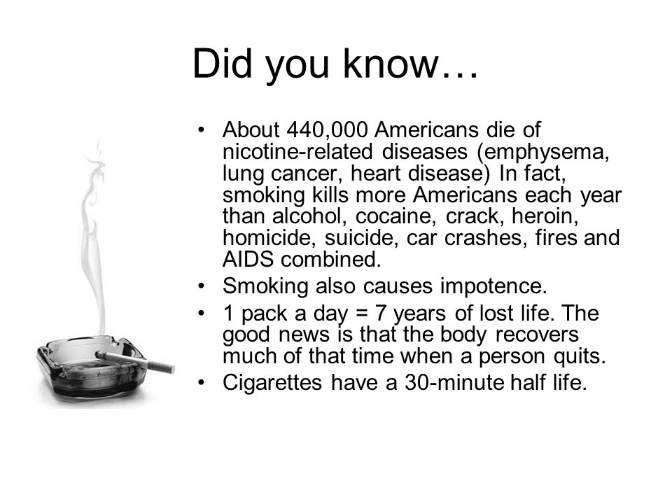 Smoking facts and stats ppt video online download for Interesting facts about crack
