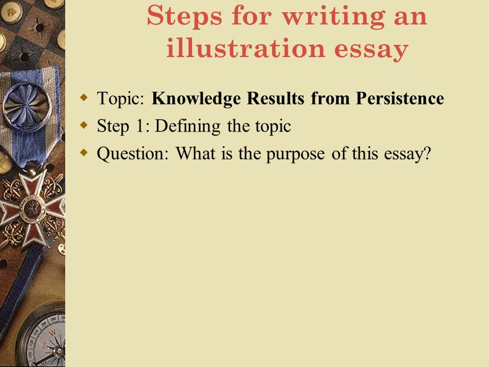 steps of writing a essay