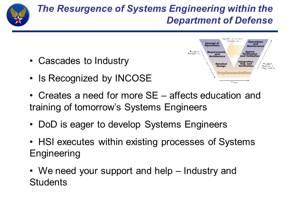 The Resurgence of Systems Engineering within the Department of Defense