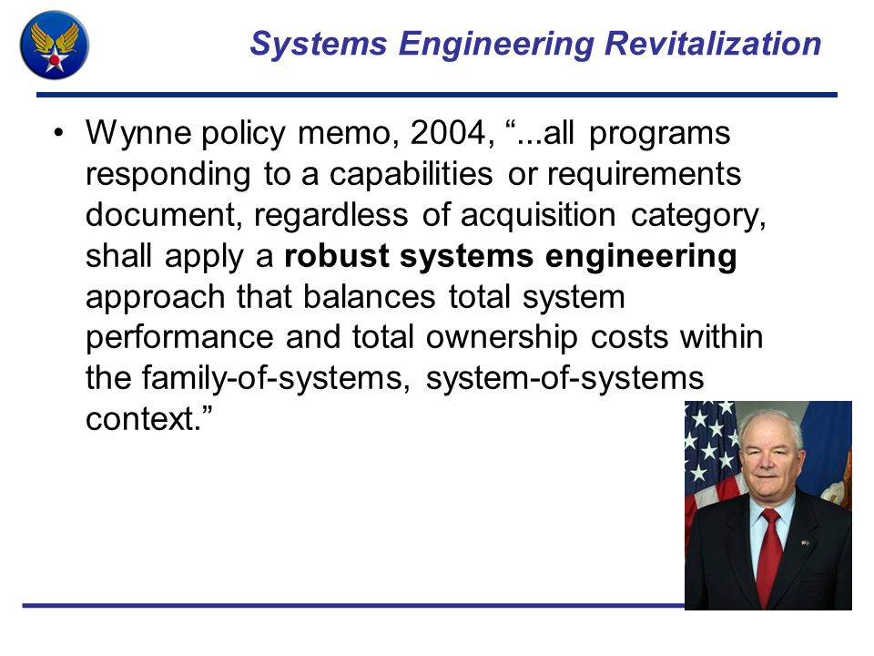 Systems Engineering Revitalization