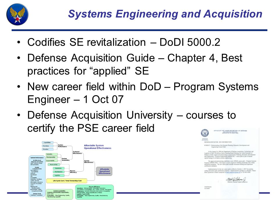 Systems Engineering and Acquisition