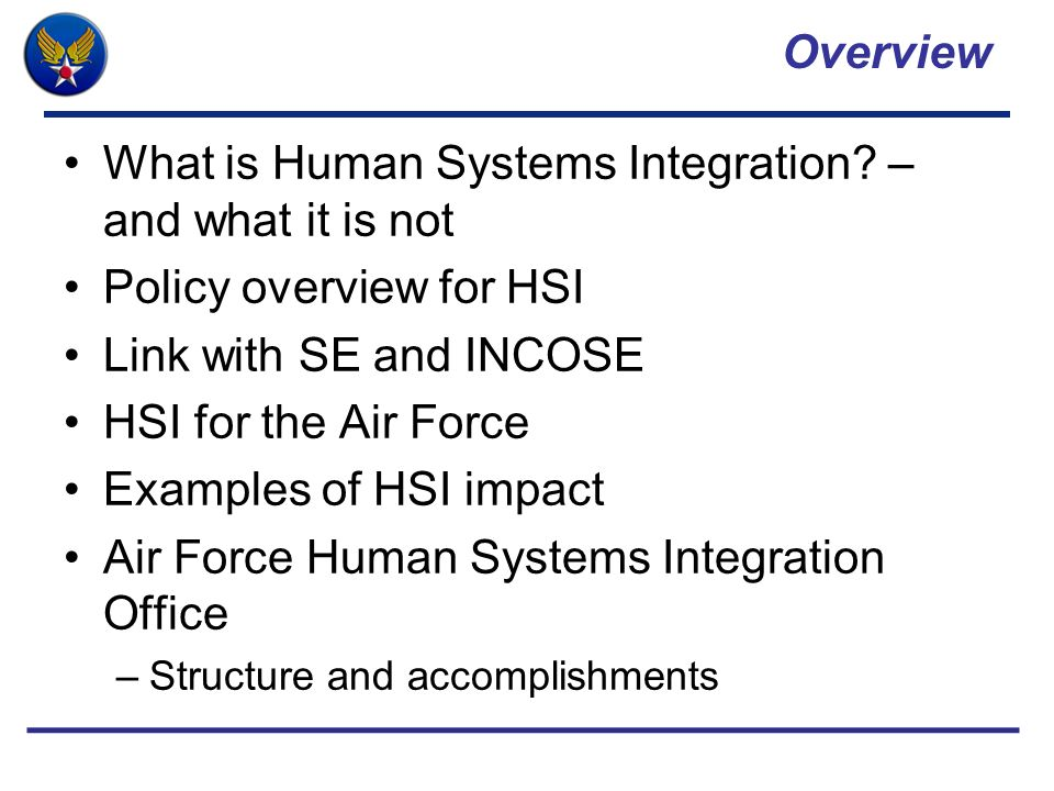 What is Human Systems Integration – and what it is not