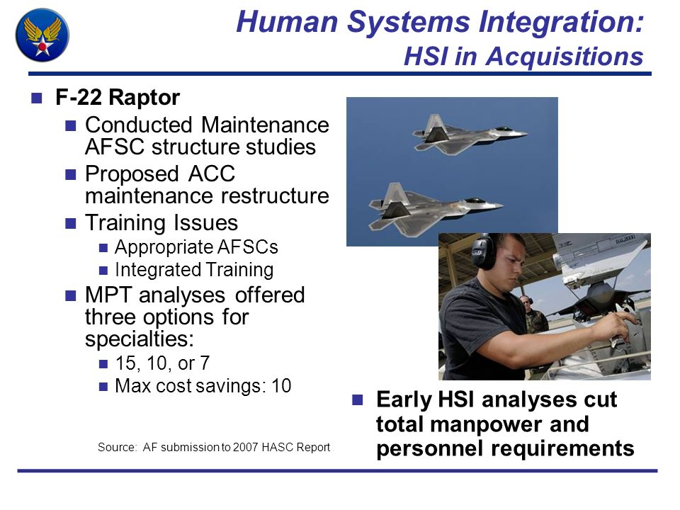 Human Systems Integration: HSI in Acquisitions