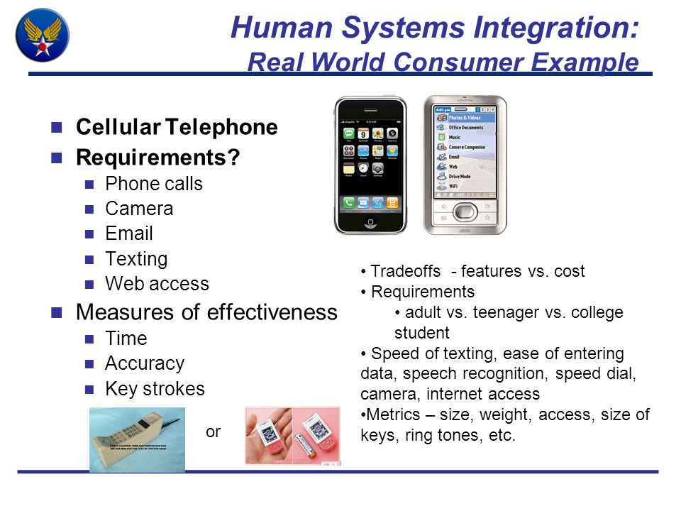 Human Systems Integration: Real World Consumer Example