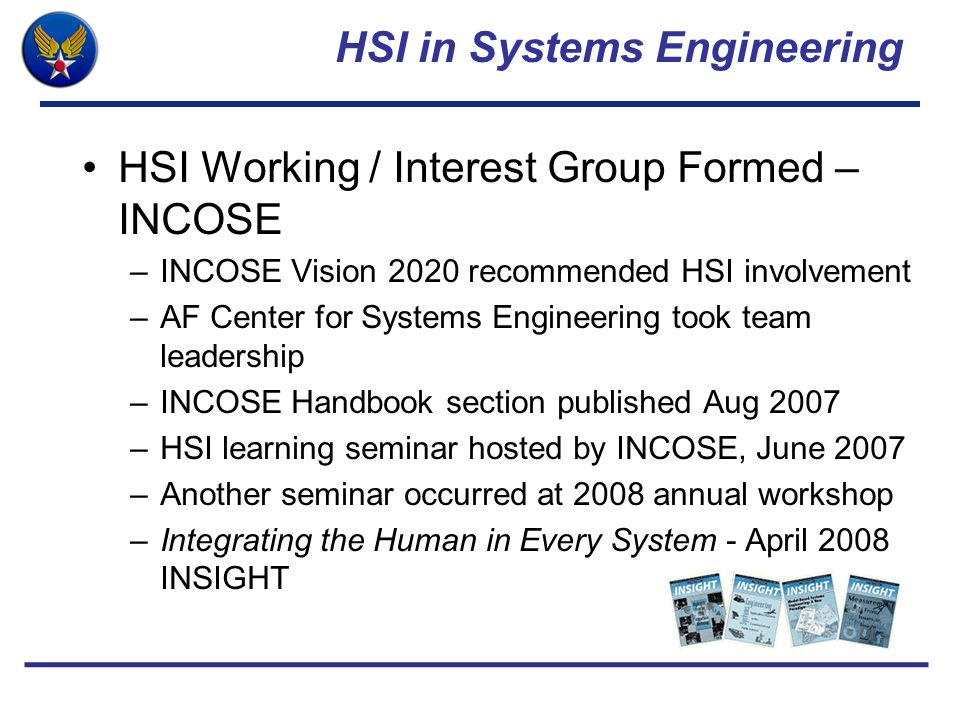 HSI in Systems Engineering