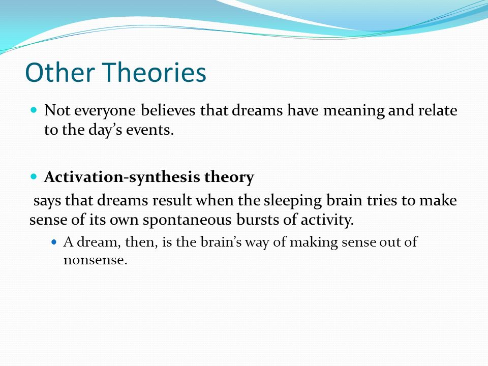 activation-synthesis hypothesis states