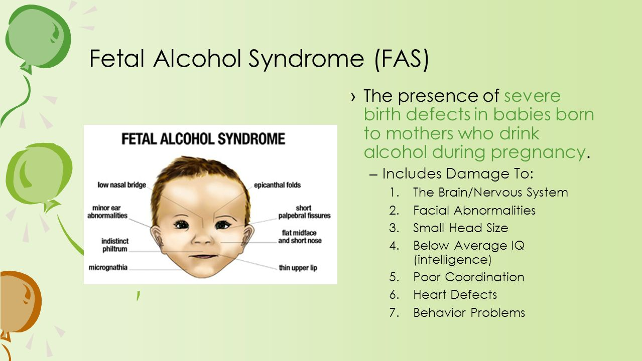 fetal alcohol syndrome outline Essay: fetal alcohol syndrome (fas) fetal alcohol syndrome (fas) refers to a series of birth defects that result from maternal consumption of alcohol during pregnancy these include physical, mental, learning, and behavioral disabilities that have lifelong implications.