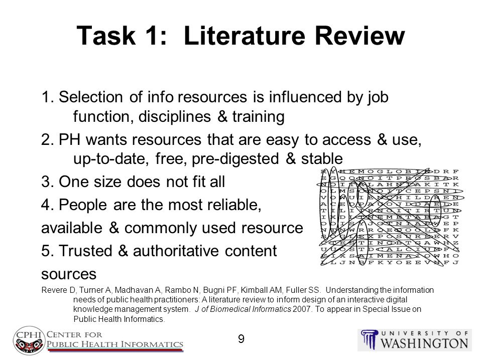 Task 1: Literature Review