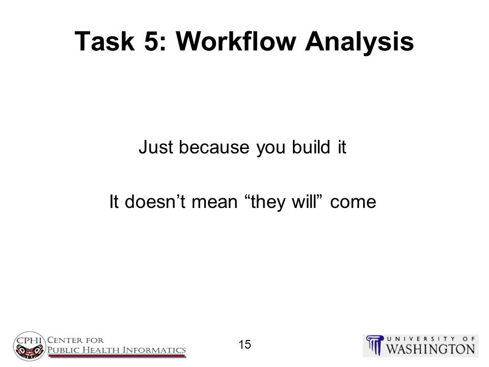Task 5: Workflow Analysis