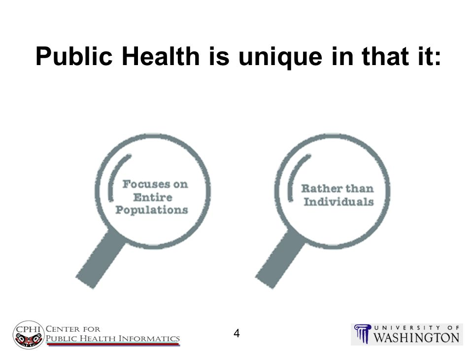 Public Health is unique in that it: