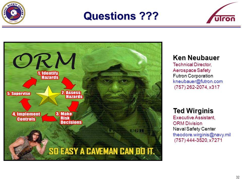 Questions Ken Neubauer Ted Wirginis