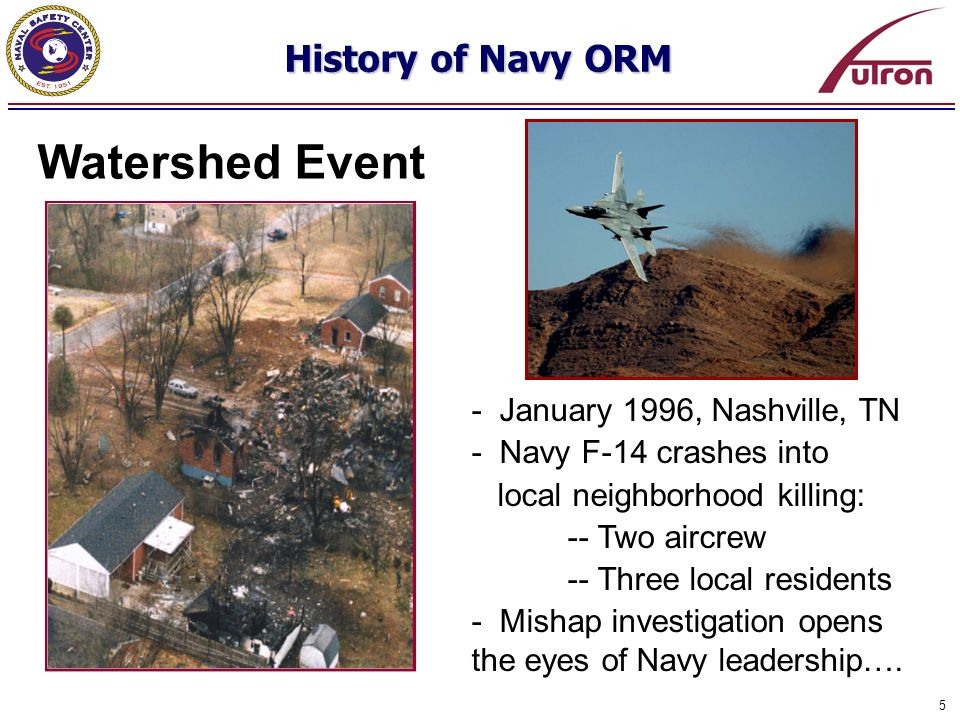 Watershed Event History of Navy ORM - January 1996, Nashville, TN