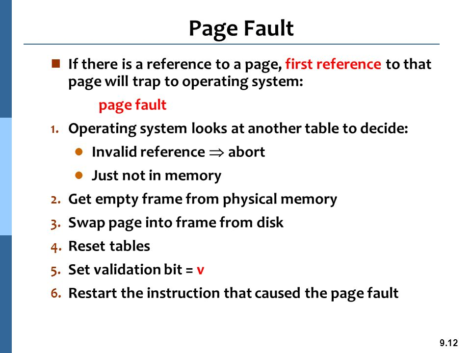 page fault in os pdf